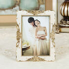"5""*7"" Fashion Gold Silver Floral Square Classic Resin Wedding Prom Photo Frame"