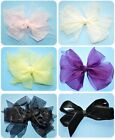 "Boutique 5"" ORGANZA Ribbon Big Handmade Girl's Hair Bow You Choose/Made to Match"