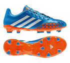New Mens Adidas Predator Absolion LZ FG Blue Leather Football Boots Size 6-11 UK