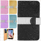 Samsung Galaxy S6 Premium Bling Diamond Wallet Case Pouch Cover +Screen Guard