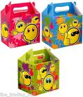 SMILEY FACE Lunch Box Party Food Gift Bag Kids Happy