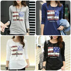 Women USA Flag American Pride Stars Stripe Casual Tee T-Shirts Fashion