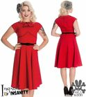 HELL BUNNY Noreen ~ Rockabilly 50s Polka Dot Pinup Dress ~ 50s 40s Vintage Retro