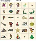 XMAS 2. CD machine embroidery designs files most formats Christmas holidays