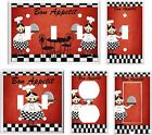 FAT CHEF BON APPETIT RED TONE  LIGHT SWITCH COVER PLATE K1 U PICK SIZE
