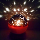 Romantic Rotation Night LED Light Starry Moon Sky Projector Lamp for Baby Kids
