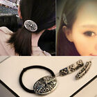 Fashion Women Vintage Cross Carved ponytail Hair ties Clip Clips Barrette