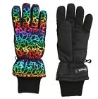 3M THINSULATE Rainbow Foil Peace Sign Insulated Ski Gloves Girls Size 7-16  18