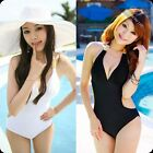 Women One Piece Swimwear Halter Bikini Set Swimsuits Push Up Padded Bathing Suit