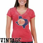 Red Jacket Texas Rangers Women's Vintage Logo Flame T-Shirt - Red