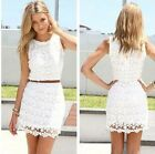 2015 New Fashion Sexy Womens Lace Celeb Croset Summer Beach Club Mini Dress - CB