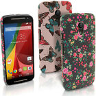 Floral Butterfly Pattern Hard Case for Motorola Moto G 2nd Gen XT1068 Back Cover