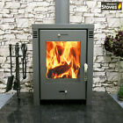 Verona L 12kw Wood burning modern stove complete installation package