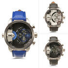 Men Watches Male Wrist Watch Quartz Analog Chronograph Leather Watchband HP3130