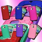 For HTC One (M8) - Fashion Hybrid Bling Diamond Protector Phone Cover Case