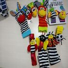 Baby Bee/Striped Infant Plush Socks Gloves Wrist Bell Watch Band Rattles Toys S