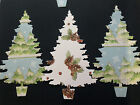 Christmas Tree Die Cuts Large X 6 Scandinavian Design Card Toppers