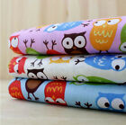 3 Color Owl Fabric Pre-Cut Cotton Quilt cloth Fabric for Sewing