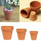 1/3PCS Terracotta Clay FLOWER POT HANDMADE CERAMIC TERRACOTTA PLANTER PLANT