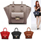 Ladies Designer Leather Style Celebrity Tote Bags Women's Small Fashion Satchel