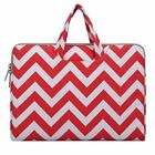 Laptop Canvas Briefcase Bag for Macbook 11&quot;12&quot;13.3&quot;15.6&quot;Notebook Case Women Men <br/> Chevron Laptop Bag Case with handle for Acer Asus HP