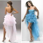 Sexy Women's Ball Gown Party Costume Strapless dress with Trailing