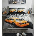 SINGLE DOUBLE AND KING SIZE DUVET COVERS MODERN NEW YORK YELLOW CAB BEDDING NEW