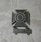 WWII U.S. ARMY MARKSMAN  STERING SILVER BADGE PINBACK SMALL BORE RIFLE   T*