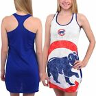 Women's White Chicago Cubs Cameo Burnout Nightshirt