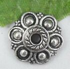 Wholesale 36/79Pcs Tibetan Silver  Bead Caps 13x3mm(Lead-free)