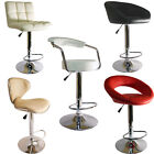 SET OF 2 FAUX LEATHER KITCHEN BREAKFAST BAR STOOL BARSTOOLS PU SWIVEL NEW STOOLS
