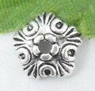 Wholesale 82/180Pcs Tibetan Silver  Bead Caps 10x3mm(Lead-free)