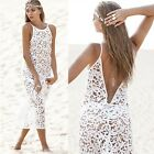 Hot Sexy Women Summer Boho Long Maxi Evening Party Dress Beach Dresses Lace - CB