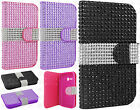 Alcatel ONETOUCH Fierce 2 Premium Bling Diamond Wallet Flip Cover + Screen Guard