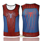 Mens Compression Sport Vest Tank Top Gym Slim Fit Tight Print Marvel Shirt Tee