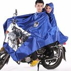 Men Women Scooter Motorcycle Rain Cape Poncho Coat Jacket Hooded Waterproof New