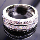 Rings Size 9/10/11 Fashion Jewelry White Sapphire Men/Women's White Gold Filled