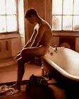 Man and Bath - Stretched Framed Canvas print, Original American Art