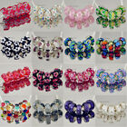 5pcs Silver Murano Glass Bead Fit European Charm Bracelet A217-420