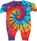 Baby Kids TIE DYE Rainbow Spiral L/S Romper hippie infant sizes 6 12 18 24 month