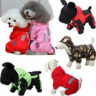 Pet Dog Waterproof Thick Raincoat Hooded Clothes Hoodie Apparel Outdoor S/M/L/XL