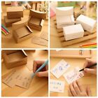 100pcs Kraft Label Paper Tags Business Card Name Note DIY Tag Gift White/Brown