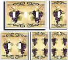 GRAPES VINE SCROLL  LIGHT SWITCH COVER PLATE # K1  U PICK PLATE SIZE