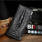 Men's Genuine Leather Cowhide Crocodile long Money Card Holder Wallet Purse