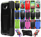 LG Ultimate 2 L41C Advanced Layer HYBRID KICKSTAND Rubber Phone Case Cover
