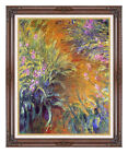 Framed Canvas Art Print The Path Through the Irises Claude Monet Painting Repro