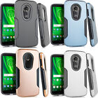 For LG Leon C40 IMPACT Hard Rubber Case Phone Cover Kickstand +Screen Protector