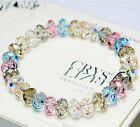 Crystal Newly Faceted Loose beads Bracelet Stretch Bangle Woman's Jewelry Gifts