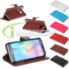 Luxury PU Leather Credit Card Wallet Stand Case Skin for Samsung Galaxy S6 Edge