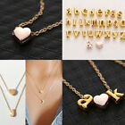 Fashion Gold Letter With Heart Pendant Diy Necklace Women Girl Friend Hot Sale
